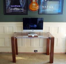 imac furniture. breathtaking imac computer desk with sisal rug and white panel walls for modern home office design furniture
