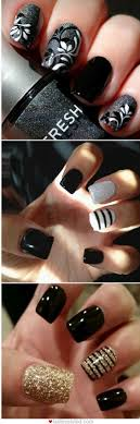 Best 25+ Black nail designs ideas on Pinterest | Black nails ...