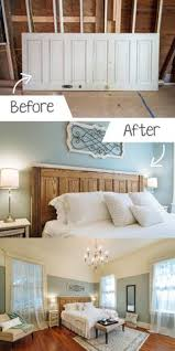 diy ideas for the home turning an old door into a headboard diy