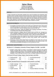 5 Good Cv Examples For First Job Formatting Letter