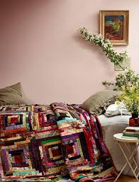 1928 best Quilts/Sewing 2 images on Pinterest | Quilting ideas ... & Log cabin quilt, a focal point in a soothingly simple bedroom. Photo: Idha Adamdwight.com