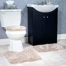 bathroom double sink rugs super plush 3 piece non slip bath mat rug set taupe furniture