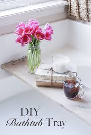this easy diy bathtub tray is perfect for drink or your favorite book while you soak