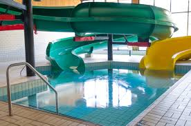 indoor pool with waterslide. Two Large Waterslides Indoor Pool With Waterslide G