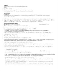 9 Sample Chronological Resumes Sample Templates