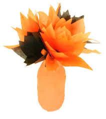 Flower Vase With Paper Halloween Tissue Paper Flowers And Juice Jar Vase