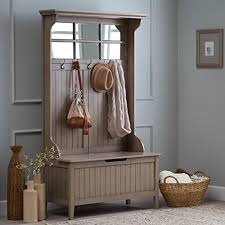 Storage Bench Seat With Coat Rack Hall Storage Bench Gray Entryway Hall Tree Seat Coat Rack Office Den 4