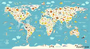 World Map Wall Murals Murale Design