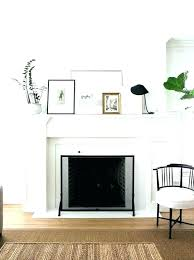 amazing white fireplace mantel surround pearl wood wooden best decorating idea shelf uk decor with stone image brick