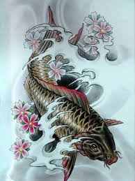 тату эскизы кпонские татуировки карп кои тату драконы 117