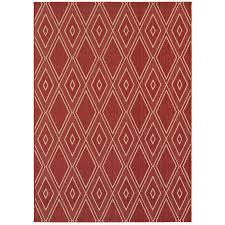 allen roth hunsworth tuscan red sand rectangular machine made southwestern area rug
