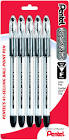 Pentel R.S.V.P. Fine Black Ballpoint Pens, 5 Pack