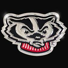 Bucky Badger Head – <b>Chrome</b> Domz
