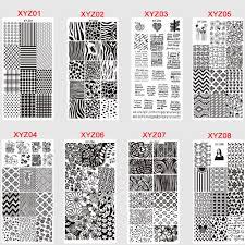 12x6cm <b>32 Designs</b> Fashion/Beauty Pattern Steel <b>Stamping</b> Plates ...