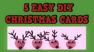 Diy Christmas Cards 5 Easy Diy Christmas Cards 2015 Easy Tutorial Card Ideas Diy