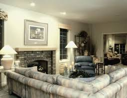 How To Decorate A Large Living Room With A Fireplace In The Middle