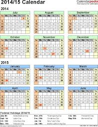 School Calendar 2015 2019 Template Free Printable School Calendar 2019 15 30 Of 2017 18 Academic