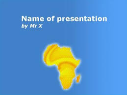 Blue And Gold Powerpoint Template Gold Africa Powerpoint Template