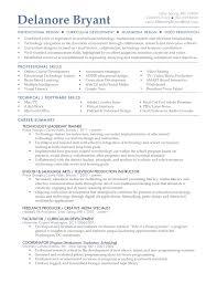 Instructional Technology Specialist Sample Resume Mitocadorcoreano Com