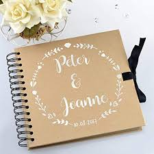 Wedding Guest Book Personalised Wedding Guestbook Or Scrapbook Photo Album