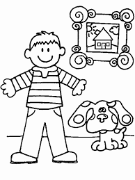 blues clues gingerbread boy. Simple Gingerbread Blues Clues Coloring Pages Steve And Blue  And Clues Gingerbread Boy