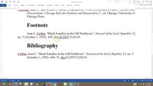 Difference Between Footnote And Bibliography