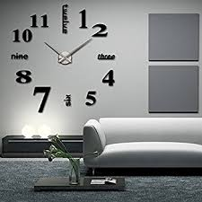 Lovely Elikeable Modern 3D Frameless Large 3D DIY Wall Clock Watches Hours DIY  Decorations Home For Living