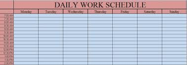 daily work schedule templates download daily work schedule excel template exceldatapro