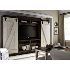 Liberty Furniture Lancaster Rustic Entertainment Center With Sliding Barn  Doors Rustic Entertainment Center U92