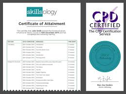 communication influence and teams course skillsology course certificate