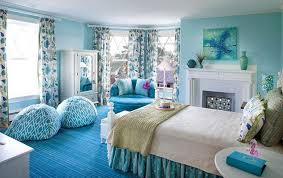 room cute blue ideas: great white and blue cute teens room colors with round shaped blue soft fabric sofa