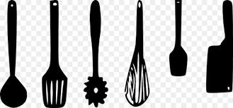 kitchen utensil clipart black and white. Unique Black Kitchen Utensil Tool Spoon Clip Art  Cutlery Intended Utensil Clipart Black And White C
