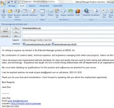 Cover Letter And Resume Email Etiquette Email Resume And Cover