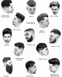 Barber Hairstyles Chart 11 Matter Of Fact Barbers Chart