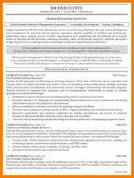 9 Resumes For Human Resource Activo Holidays
