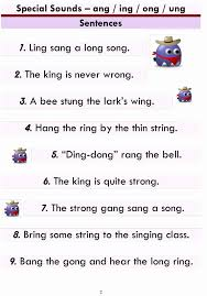 Esl phonics & phonetics worksheets for kids download esl kids worksheets below, designed to teach spelling, phonics, vocabulary and reading. Ing Ang Ong Ung Worksheets New Advanced Phonics Ang Ing Ong Ung Word List And Printable Worksheets Design