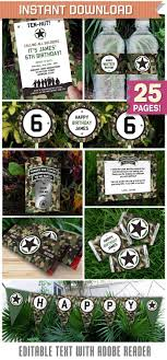 Blue Camouflage Party Decorations 17 Best Ideas About Army Party Decorations On Pinterest Military