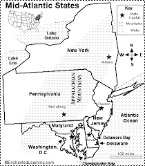 926a5d061e02952219439386e75574ae atlantic states printable map mid atlantic states map quiz on silk road map worksheet