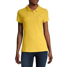 Us Polo Assn Womens Short Sleeve Knit Polo Shirt Juniors In