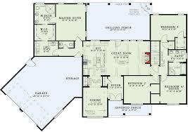 Split Floor Plans With Angled Garage  60615ND  Architectural Floor Plans With Garage