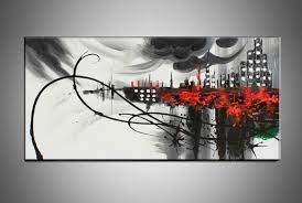 black and white canvas art unique hand painted canvas wall art black white abstract