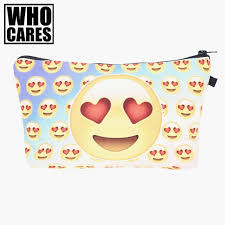 2019 whole small cosmetic bag emoji lover rainbow 3d printing 2017 new trousse de maquillage women fashion brand travel makeup case gift from feetlove