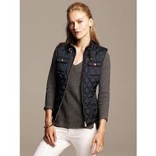 Banana Republic Womens Quilted Vest Size M Petite - Preppy navy ... & Banana Republic Womens Quilted Vest Size M Petite - Preppy navy Adamdwight.com