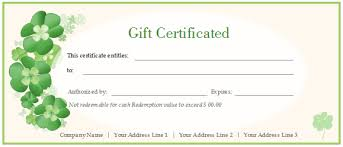 Gift Certificates For Your Business Free Business Gift Certificate Template With Logo Printable And