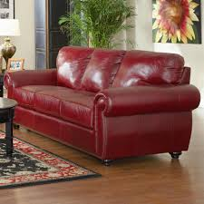 best terrific red leather sofa bed dfs 25716