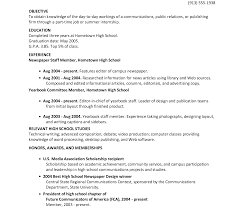 Example Of High School Resume Objective For High School Resume Work Abroad Sample Cv Service 69