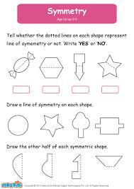 symmetry math worksheet for kids more interesting maths shapes ...