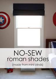 Roman Blind Diy How To Make Inexpensive No Sew Roman Shades I Heart Nap Time