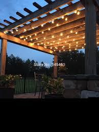 Pergola String Lights 50ft Globe String Lights G50 50 Clear Globe Bulbs 220 110v