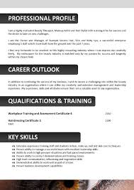Resume Format For Beautician Job Resume Format